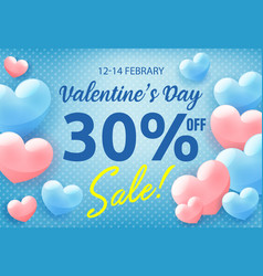 valentines day shopping sale invitation poster vector image