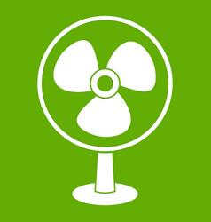 ventilator icon green vector image