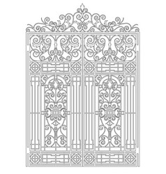 Vintage gate stencil vector
