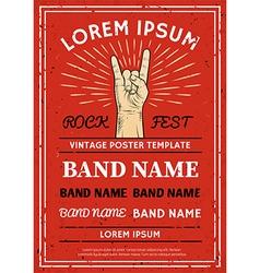 Vintage Rock festival poster flyer vector