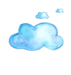 Watercolor cloud vector image