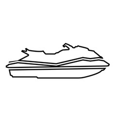 Waverunner icon black color flat style simple vector
