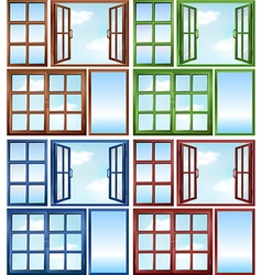 Windows close and open vector