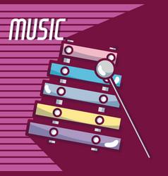 Xylophone music instrument vector