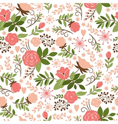 Beauty floral pattern vector image vector image