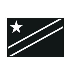 Democratic Republic of Congo Flag monochrome on vector image