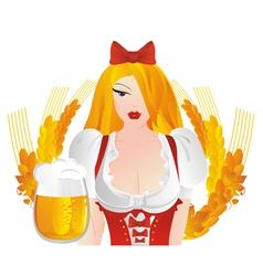 german dress with beer mugs vector image vector image