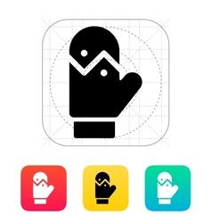 Mitten icon vector image vector image