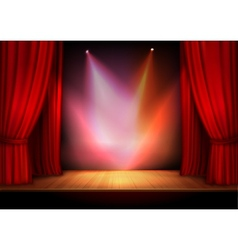 Curtain with lights vector image