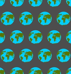 Planet Earth with continents and oceans seamless vector image vector image