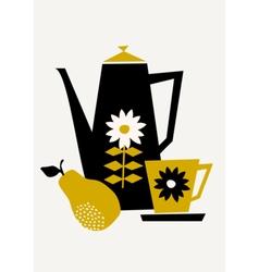 Retro Coffee Set vector image vector image
