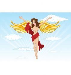 sexy angel illustration vector image