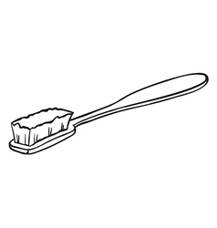 A cleaning brush vector image