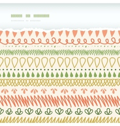 Abstract Stripes Horizontal Torn Seamless Pattern vector image vector image