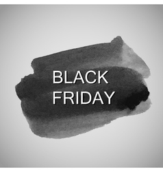 Black Friday label on the watercolor stain vector image vector image
