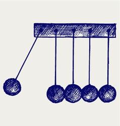 Hanging balls vector image vector image