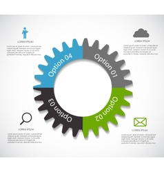 Infographic Templates for Business EPS10 vector image vector image