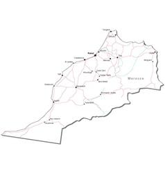 Morocco Black White Map vector image vector image