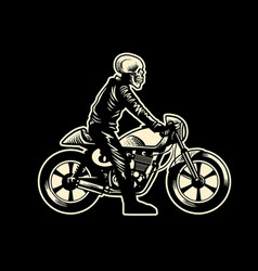 skull motorcycle rider vector image vector image