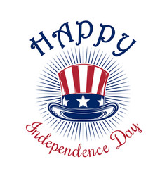 us independence day logo design vector image vector image