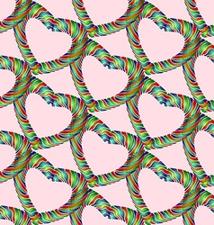 Candy heart pattern3 vector image vector image