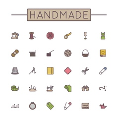 Colored Handmade Line Icons vector image vector image
