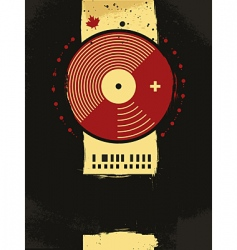 grunge musical poster vector image