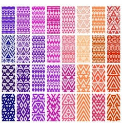 Set of 24 patterns vector