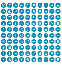 100 sushi bar icons sapphirine violet vector