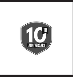 10th anniversary badge sign and emblem vector