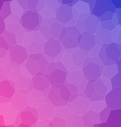 Abstract pink blue background with hexagons vector image