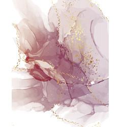 Abstract purple watercolor violet gold digital vector