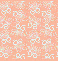abstract seamless pattern floral vintage style vector image