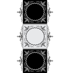 antique frame version vector image