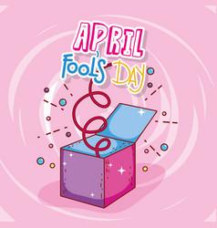 april fools day celebration box vector image