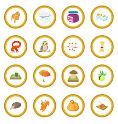 autumn icon circle vector image
