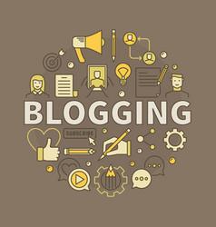 Blogging colorful vector
