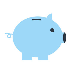 blue piggy bank safe money isolated vector image