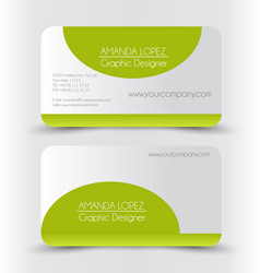Business card set template vector
