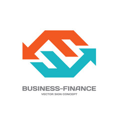 business-finance - logo template concept vector image