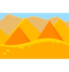 Cartoon Landscape of Desert Pyramids for Game vector image