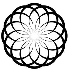 Circular geometric decorative pattern abstract vector