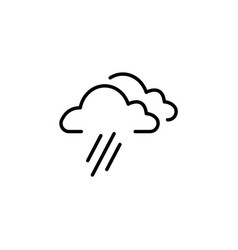 cloud rain line icon black on white background vector image