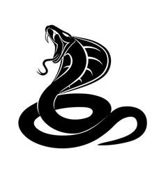 Cobra snake sign vector