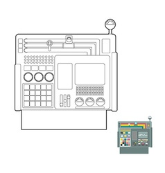 control system System Center Panel for production vector image