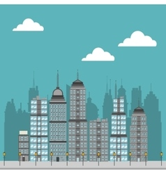 Cty with buildings design vector