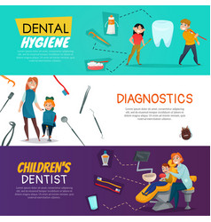 Dentistry horizontal banner vector