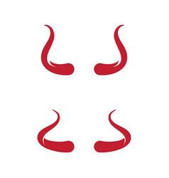 devil horn icon design vector image