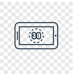 digital display 30 concept linear icon isolated vector image