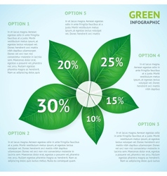 Eco green infographics concept vector